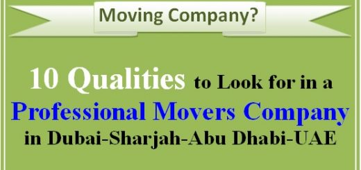 Professional Moving company in Dubai