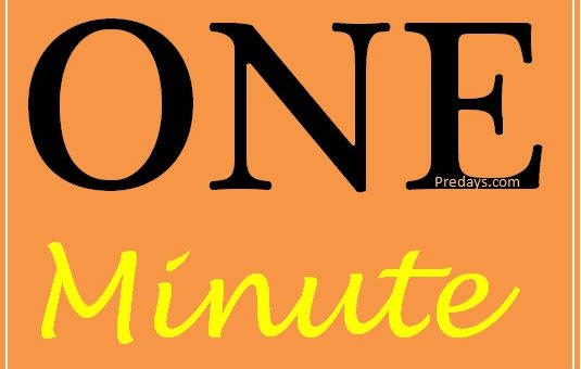 Internet in one minute
